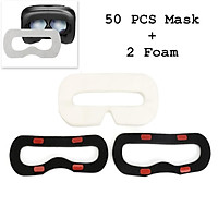 50Pcs Disposable Sanitary Facial Mask/Eye Mask+ 2 Foam for HTC Vive VR Headset