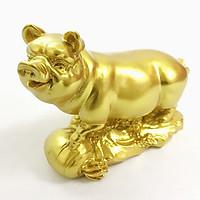 Tượng con heo vàng, chất liệu nhựa được phủ lớp màu vàng óng bắt mắt, dùng trưng bày trong nhà, những nơi phong thủy, cầu mong may mắn, tài lộc - TMT Collection - SP005240
