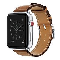 Dây đeo thay thế cho Apple Watch kiểu dáng da cao cấp _38mm_Nâu