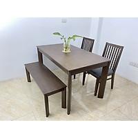 BỘ DINING 1.4m 2 ghế và 1 bench TAGO DIN1.4.2B