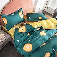 Bộ Chăn Ga Gối Cotton Poly Nhập Khẩu Set Gồm 4 Món Hàng Đẹp Mã 01 (gồm 1 vỏ chăn có khóa lồng ruột, 1 ga giường, 2 vỏ gối)