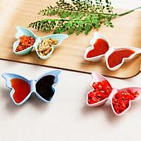 Đĩa đựng gia vị 2 ngăn hình con bướm tiện dụng