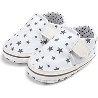 Baby Shoes Baby Girl Shoes Newborn Star Print Canvas Soft Bottom Casual The First Walker