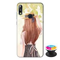 Ốp lưng điện thoại Asus Zenfone Max Pro M2 hình Phía Sua Một Cô Gái tặng kèm giá đỡ điện thoại iCase xinh xắn - Hàng chính hãng