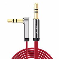 Dây Audio 3.5mm dẹt mạ vàng ,1 đầu vuông 90 độ TPE dài 1M UGREEN AV119 10798 - Hàng chính hãng