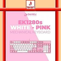 Bàn phím cơ Gaming  DAREU EK1280s PINK-WHITE 104KEY PINK LED Hàng Chính Hãng