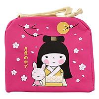 Túi Giữ Nhiệt Hình Cô Gái Nhật Bản Màu Hồng