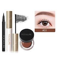 (Hàng Mới Về) Set Mascara Và Bút Kẻ Mắt Focallure Màu Đen Chống Thấm Nước 60g