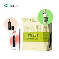 Combo túi chườm bụng + tinh dầu lăn Focus giúp giải tỏa căng thẳng, giữ ấm bụng, giảm đau bụng, phù hợp sau sinh