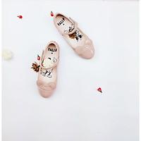 Giày búp bê bé gái mickey đế bằng quai dán 3-14 tuổi size25-34 màu hồng