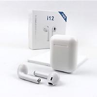 Tai Nghe Bluetooth Mini Gutek I12 Tws V5.0 (Trắng) Nút Cảm Ứng, Có Pop-Up, Tương Thích Với Các Dòng Smartphone, Tích Hợp Mic Nói Chuyện Điện Thoại, Đi Kèm Dock Sạc Dự Phòng, Âm Bass Sống Động – Hàng Chính Hãng