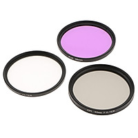 UV CPL FLD Professional Lens Filter Kit and Carry Pouch for DSLR Camera Lenses 46mm 49mm 52mm 55mm 58mm 62mm 67mm 72mm 77mm 82mm 40.5mm