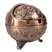 Gạt tàn hoàng gia bông hồng có nắp gạt tiện dụng GS0024