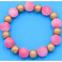 Vòng chuỗi tay phong thủy - đá ngọc tủy hồng 12 ly VNTHHVM1 - hợp mệnh Hỏa, mệnh Thổ