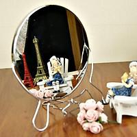 Gương trang điểm để bàn 360 độ ( 2 size, 1 mặt gương to 1 mặt gương bình thường)