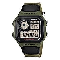 Đồng hồ nam dây vải Casio Standard chính hãng AE-1200WHB-3BVDF