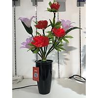 Bình hoa đèn led sợi quang đổi màu - bình hoa trang trí 65cm cắm điện 220V - BH138