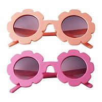 Lovely Kids Girls Round Sunglasses Toddler Soft Plastic Goggles Eyewear
