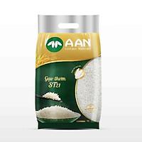 Gạo Thơm ST21 A AN Túi 5Kg - Gạo đặc sản Sóc Trăng - Thơm hoa lài nhẹ, cơm ngọt, rất dẻo, hạt cơm kết dính