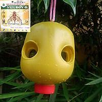 Bộ sản phẩm bẫy ruồi vàng - 2 lọ và 4 bẫy ruồi vàng - Bẫy Ruồi Vàng Siêu Hiệu Quả