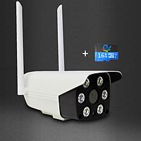 Camera Ip Wifi quan sát ngoài trời gắn tường độ phân giải 2.0Mpx Full HD, có màu ban đêm, đàm thoại 2 chiều, tích hợp đèn hồng ngoại, hình ảnh sắc nét kèm tặng thẻ nhớ 62DK200