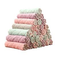 Bộ 10 khăn lau 2 mặt xuất Nhật Toki - Khăn lau không phai màu không rụng sợi- nhanh khô- Khăn lau bếp, khăn lau kính, lau bát lau tay - HN09421L