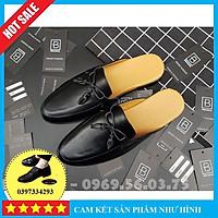 Sục nam cao cấp giá rẻ, Giày lười sục nam chuông đế cao su đúc chất liệu da bò pu phong cách trẻ trung - Mã SN01