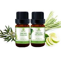 Combo 2 chai tinh dầu thiên nhiên Mộc Mây:Tinh Dầu Sả Chanh Lemongrass 10ml+Tinh dầu Tràm Gió 10ml