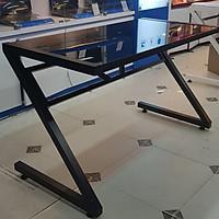 Bàn máy tính chân chữ Z kính cường lực - đen