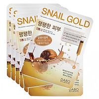Combo 10 Miếng Đắp Mặt Nạ Dabo First Solution Mask Pack Snail Gold trắng da chống lão hóa Hàn Quốc (23g / Gói)