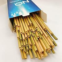 Hộp 100 ống hút cỏ bàng khô Eco Friendly - Dài 20 cm - Sử dụng được cho tất cả các loại nước