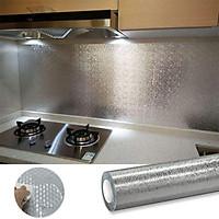 Cuộn giấy bạc dán bếp cách nh, miếng decal dán tường nhà bếp chống thấm khổ to (60 x 3m)