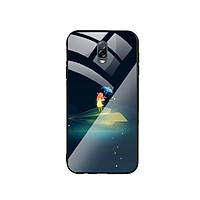 Ốp Lưng Kính Cường Lực cho điện thoại Samsung Galaxy J7 Plus - Little Girl 03
