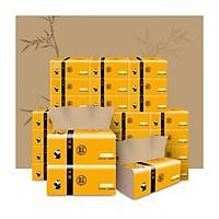 Giấy Ăn Gấu Trúc (thùng 30 gói) siêu dai, an toàn khi sử dụng, Giấy Ăn Sợi Tre an toàn không chất tẩy trắng
