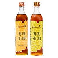 Combo Mật Ong Thiên Nhiên Honeyboy (500ml) + Mật Ong Sữa Chúa Honeyboy (500ml)