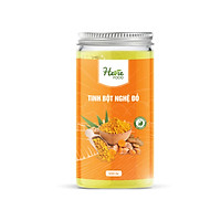 Tinh bột nghệ đỏ 500g HeVieFood có công dụng hỗ trợ tăng cường sức khỏe, hỗ trợ dinh dưỡng, giúp hệ tiêu hóa hoạt động tốt hơn, giảm đau nhức cơ bắp, hàng chính hãng công ty, xuất xứ Việt Nam.