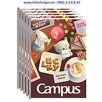Lốc 5 quyển vở kẻ ngang 120 trang B5 Gift Campus NB-BGIF120 màu nâu