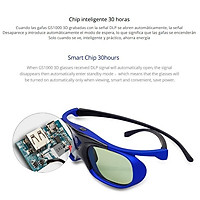 3D Active Shutter Glasses DLP Projector Battery Universal 96-144Hz for Acer Viewsonic JmGO XGIMI Optoma BenQ