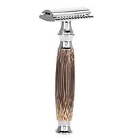 Dao cạo râu Classic cán tre cao cấp (Cải tiến) Tặng 2 lưỡi cạo thay thế