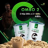Combo 2 hộp Ngũ cốc HealthyBean, Tăng cân - Tăng cơ - Giảm mỡ Healthy Farm 1kg