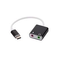 USB C Type C Type-C External Sound Card Hi-Fi Magic Voice 7.1 CH Audio Card Adapter USB-C to Jack 3.5mm Earphone