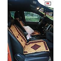 Đệm ghế ô tô hạt gỗ nhãn thiết kế mới loại cài dưới gối đầu