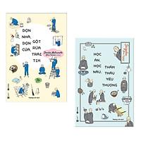 Combo 2 cuốn sách kĩ năng sống :  Dọn Nhà, Dọn Cửa, Gột Rửa Trái Tim +  Học Ăn, Học Nấu, Thẩm Thấu Yêu Thương ( Tặng kèm Bookmark Happy Life)