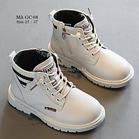 Boot trẻ em cho bé trai bé gái 3 - 12 tuổi màu be trắng thời trang đi học đi chơi sành điệu GC48