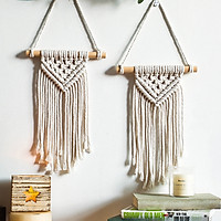 Bohemian Chic Macrame Wall Hanging Tapestry Wall Decor Woven Knitted Decoration