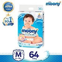 [Mã mới] Tã dán cao cấp Moony M64 nhập khẩu từ Nhật Bản