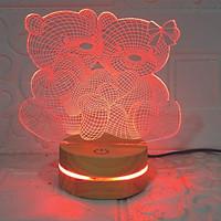 Đèn Gấu đôi, Đèn Trang trí, đèn 3D led, Đèn ngủ đổi màu, Đèn 16 màu thay đổi, Đế gỗ thân thiện, điều khiển từ xa tiện lợi, Quà tặng ý nghĩa, quà lưu niệm, thiết bị chiếu sáng nhà cửa, bàn làm việc
