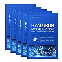 Combo 5 Mặt Nạ Giấy Bổ Sung Dưỡng Chất Dưỡng Ẩm, Cấp Nước Some By Mi Hyaluron Moisturizing Mask Sheet 25ml x5