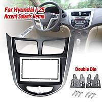 Car Refitting Radio Fascia Frame Panel DVD Trim Kit for HYUNDAI i-25 i25 Accent Solaris Verna 2DIN