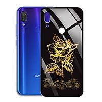 Ốp Lưng Mạ Màu Vàng Ánh Kim cho điện thoại Xiaomi Redmi Note 7 Pro - 0371 8008 ROSE11 - Hàng Chính Hãng